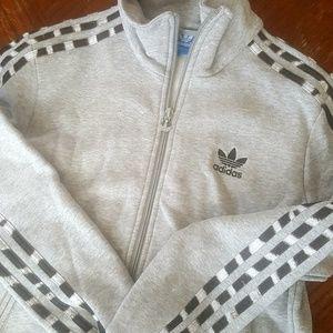 Adidas trefoil cotton track jacket cheetah print